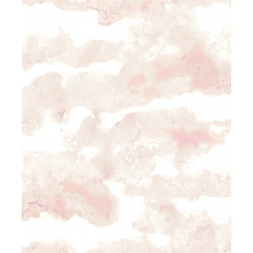 Papel pintado estampado nuage rose