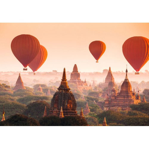 Foto mural wizard+genius Ballons over Bagan