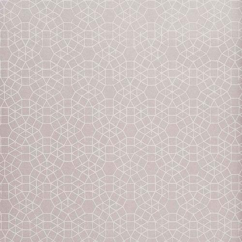 Papel pintado paloma hexagone rose