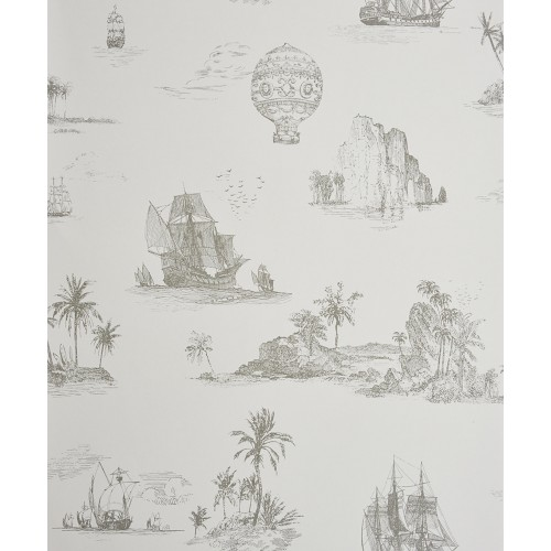 Papel pintado chantilly voyage gris